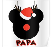 Mickey the Red Nose Mouse - Deer Dad Papa Poster