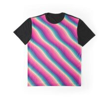 Abstract Color Burn Pattern - Geometric Lines / Optical Illusion in Rainbow Acid Colors Graphic T-Shirt