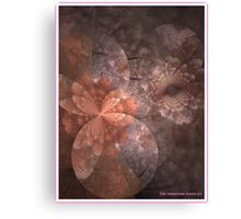 OLD ROSE FRACTAL VICTORIANA Canvas Print