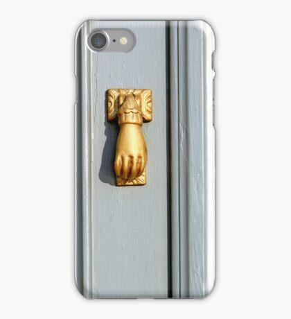 Golden door knob iPhone Case/Skin