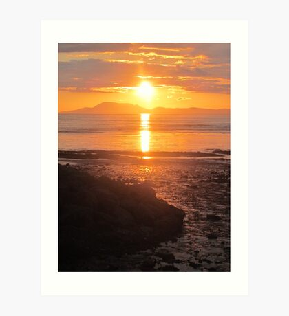 A Donegal Sunset 1, July 2012 Art Print