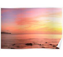 Caribbean Sunset Sky St. Lucia Poster