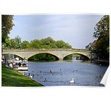 Workman Bridge and The River Avon  Poster