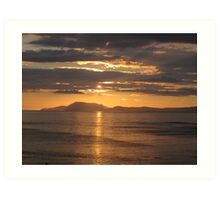 Donegal Sunset 5, July 2012 Art Print