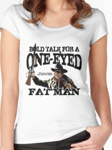 """""""One Eyed Fat Man"""" Women's Fitted Scoop T-Shirt"""