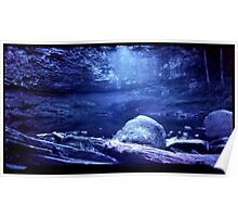 Late Afternoon Cherokee Falls Pinhole Poster