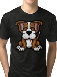 Puppy Cartoon Dog  Tri-blend T-Shirt