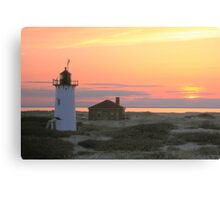 Race Point Lighthouse at Sunset Canvas Print