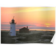 Race Point Lighthouse at Sunset Poster