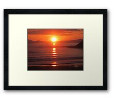 Donegal Sunset 6, July 2012 Framed Print