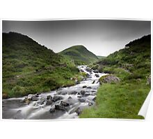 Tail Burn leaving Loch Skeen, Dumfries and Galloway Poster