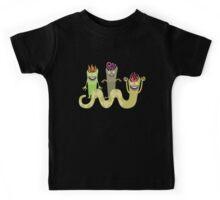 Cute funny green monsters trio Kids Tee