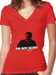 the tee - the boy scout Women's Fitted V-Neck T-Shirt