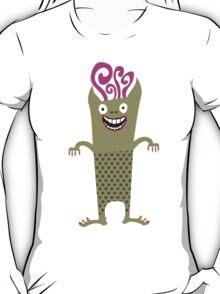 Cute funny green monster alien T-Shirt