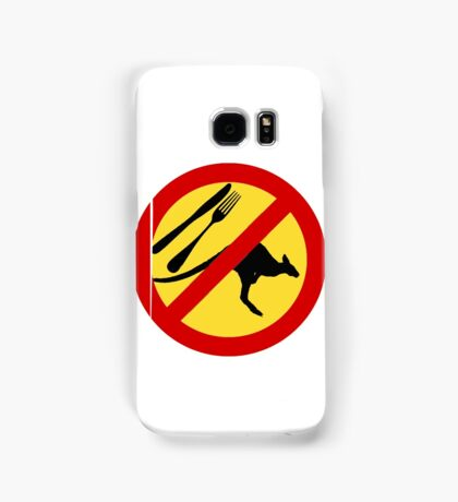 Don't eat Kangaroos (yellow) Samsung Galaxy Case/Skin