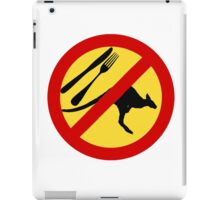 Don't eat Kangaroos (yellow) iPad Case/Skin