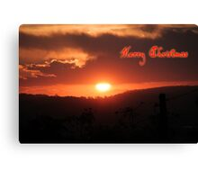 Australian Sunset, Merry Christmas Canvas Print