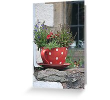 Flower Tea Cup Greeting Card