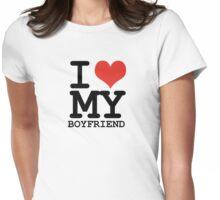 I love my boyfriend Womens Fitted T-Shirt