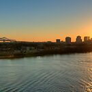 Sunset on the Mississippi by RayDevlin
