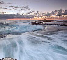 Distant Fishermen - Little Bay, NSW by Malcolm Katon