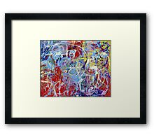 Loops of Fury Framed Print