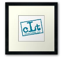 Charolotte CLT (NWO) Purple & Teal Framed Print
