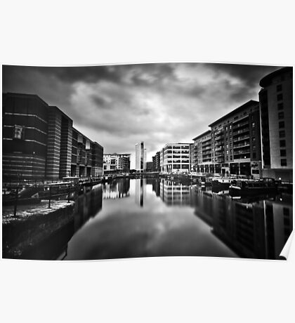 Clarence Dock (Black & White) Poster