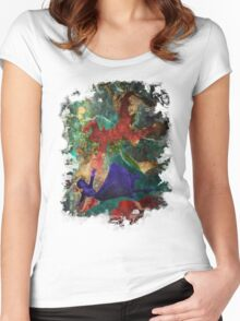 Bioshock Infinite Falling Women's Fitted Scoop T-Shirt