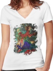 Bioshock Infinite Falling Women's Fitted V-Neck T-Shirt