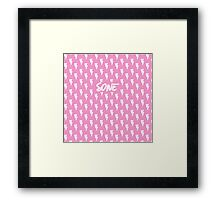 Girls' Generation (SNSD) 'SONE' Pink Bolt Framed Print