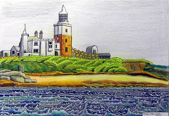 352 - COQUET ISLAND - DAVE EDWARDS - COLOURED PENCILS & INK - 2012 by BLYTHART