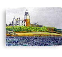 352 - COQUET ISLAND - DAVE EDWARDS - COLOURED PENCILS & INK - 2012 Canvas Print