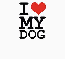 I love my dog Womens Fitted T-Shirt