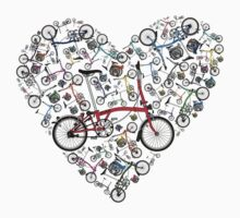 I Love Brompton Bikes One Piece - Short Sleeve