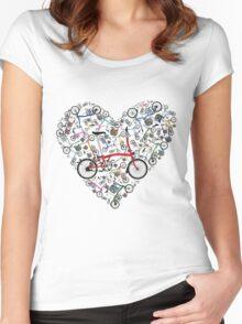 I Love Brompton Bikes Women's Fitted Scoop T-Shirt