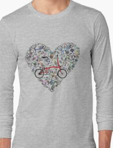 I Love Brompton Bikes Long Sleeve T-Shirt