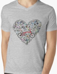 I Love Brompton Bikes Mens V-Neck T-Shirt
