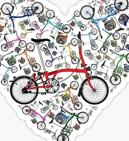I Love Brompton Bikes Sticker