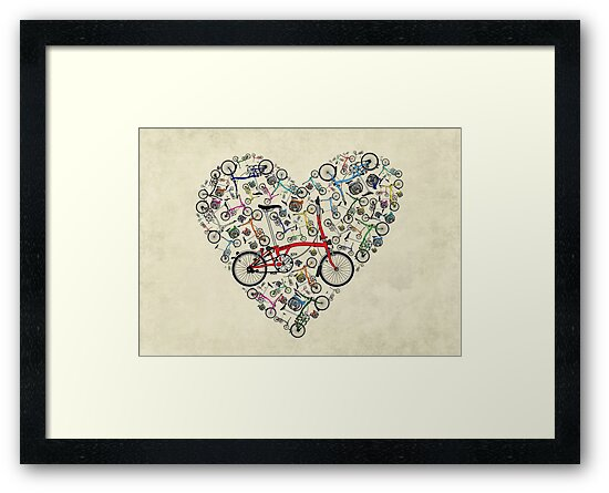 I Love Brompton Bikes by Andy Scullion