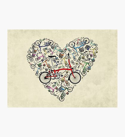 I Love Brompton Bikes Photographic Print