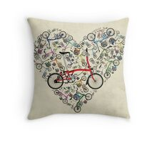 I Love Brompton Bikes Throw Pillow