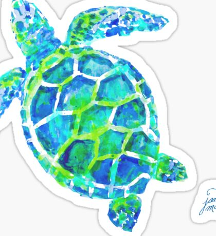 Sea Turtle no splots by Jan Marvin Sticker