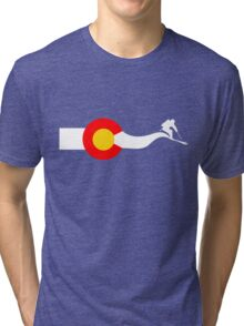 Ski Colorado Flag Tri-blend T-Shirt