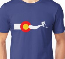 Ski Colorado Flag Unisex T-Shirt