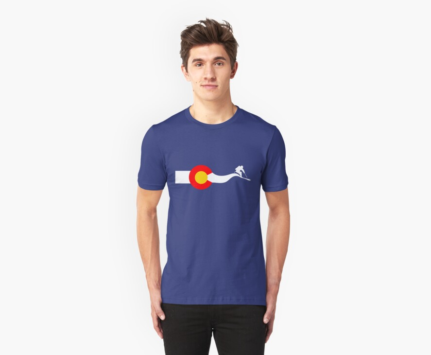 Ski Colorado Flag by Paper Hat