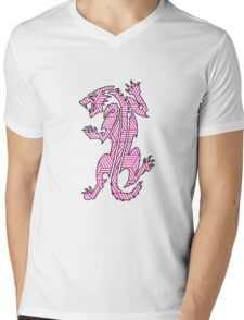 Tiger Strikes Pink  Mens V-Neck T-Shirt