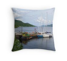 Fort Augustus Dock Throw Pillow