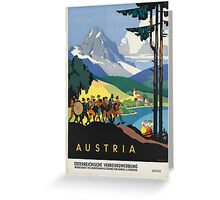 Vintage poster - Austria Greeting Card