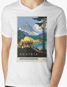 Vintage poster - Austria Mens V-Neck T-Shirt
